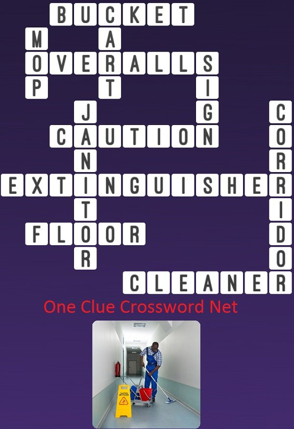 Janitor  One Clue Crossword