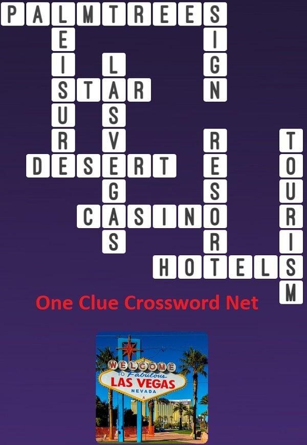 Las Vegas  One Clue Crossword