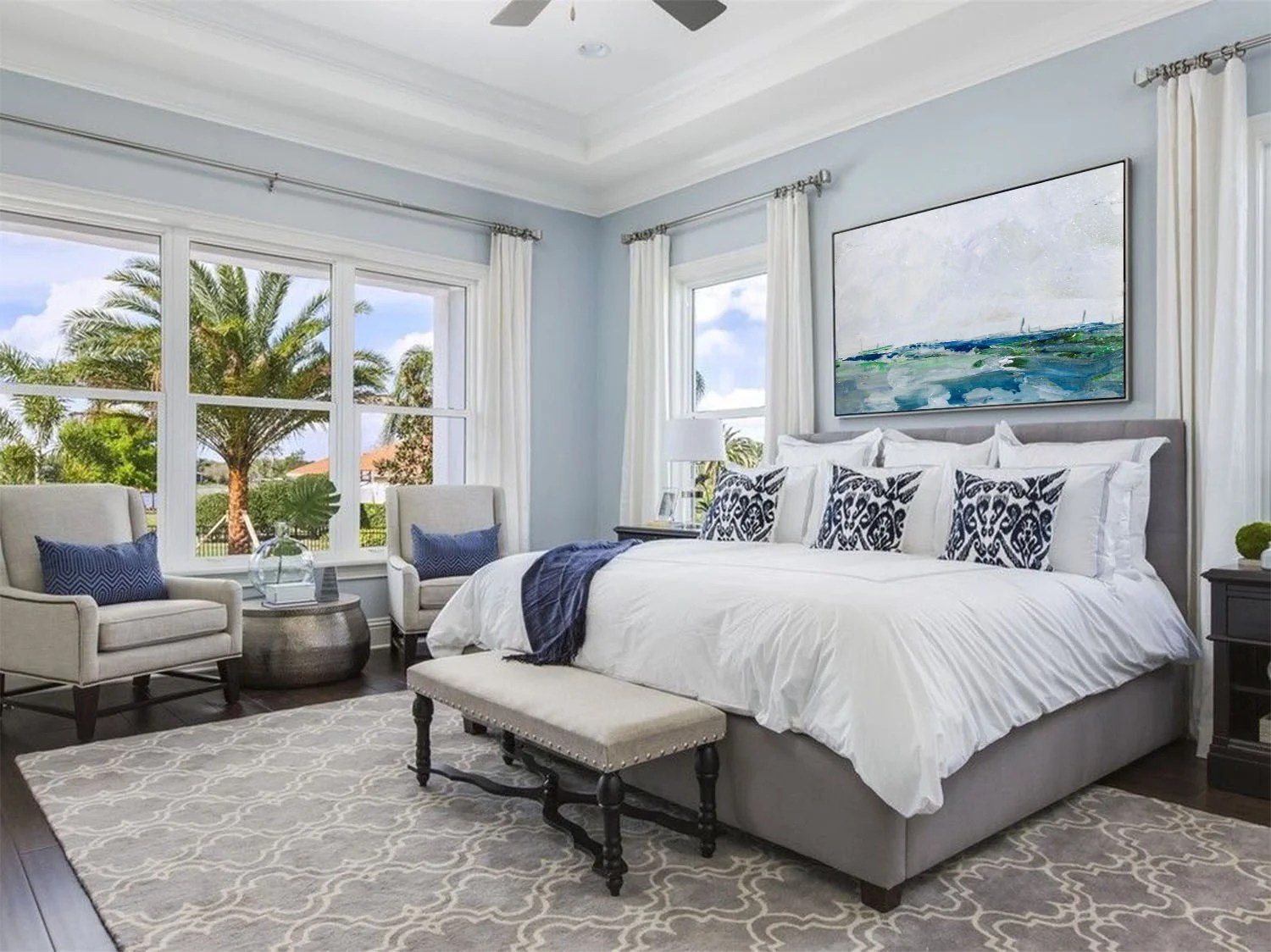 Interiors | Blue Bedroom, Interiors, interior designer summerville sc, One Coast Design, Michelle Woolley Sauter