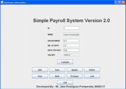 payroll test cases