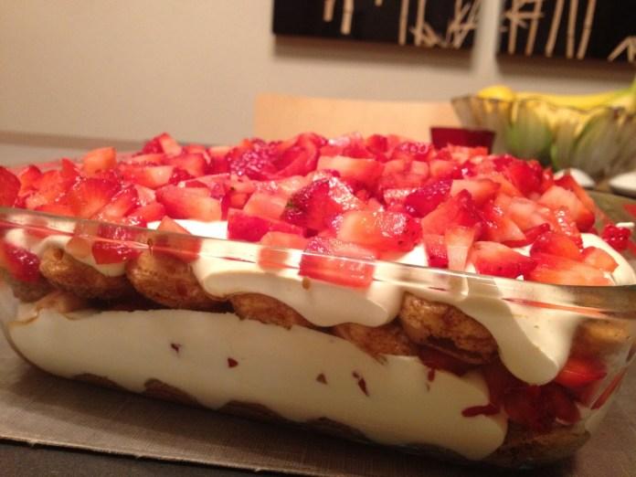 Strawberry Cream Cheese Tiramisu
