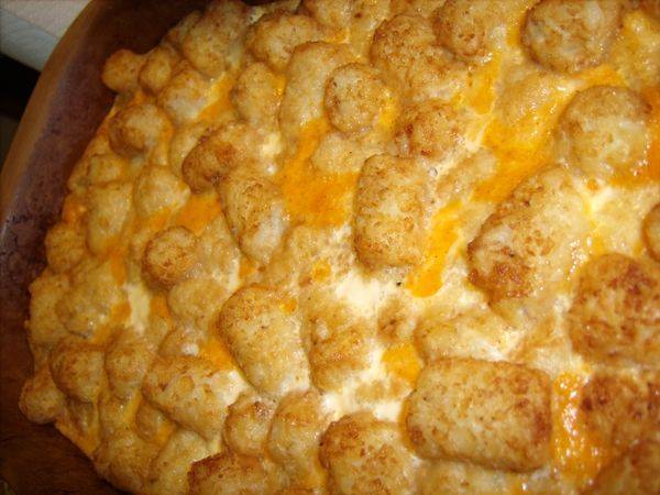 Cheddar Tater Tot Casserole