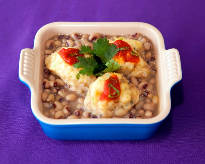 Black-Eyed Peas and Cornmeal Dumplings