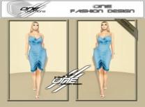 DQ...Tube Satin Dress ( BLUE )
