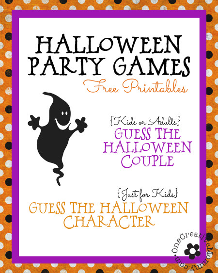 free halloween party games printables # 2