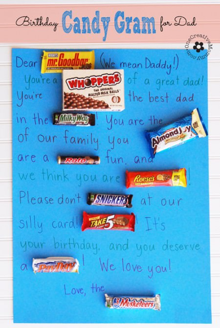 Birthday Candy Gram For Dad Onecreativemommy Com
