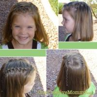 Waterfall Braids - onecreativemommy.com
