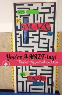 Teacher Appreciation Ideas for Door Decorating