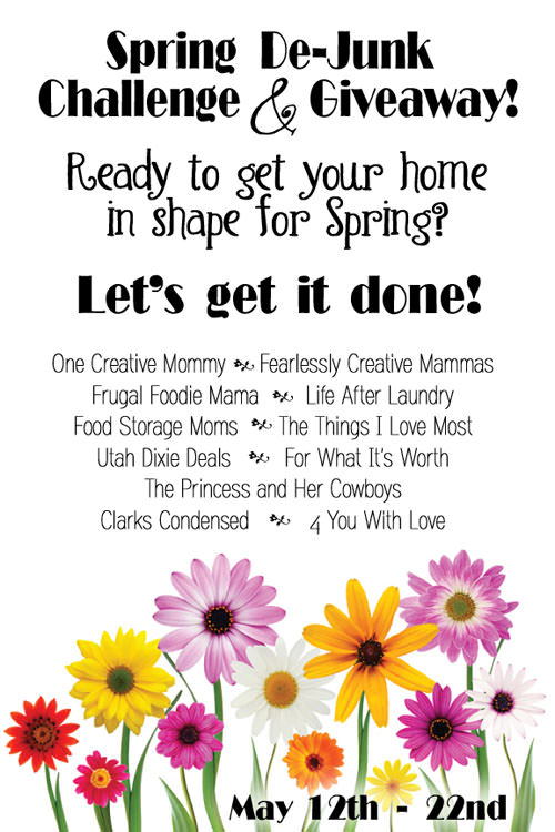 Spring De-Junk Challenge & Giveaway!  {10-day Instagram Challenge, Spring Cleaning/De-Junking Posts, and a Lowes Gift Card Giveaway!}  Join Us!