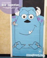 Halloween Classroom Door Decorations {Monsters, Inc
