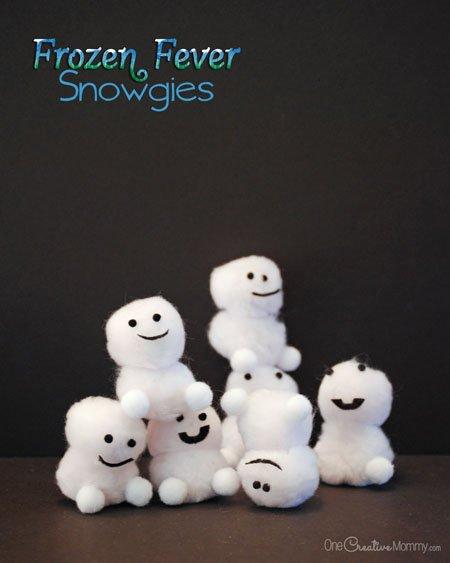 Frozen Fever Snowgies Craft For Kids Baby Snowmen