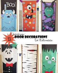 Cool Classroom Door Decorations for Halloween ...