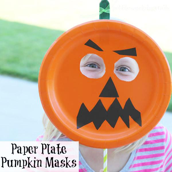 easy paper plate pumpkin