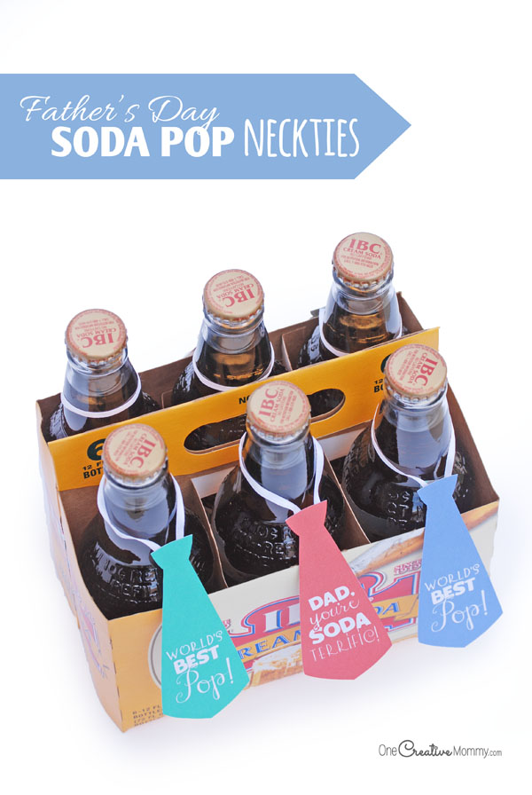 Easy Father's Day Gift Idea Soda Pop Neckties