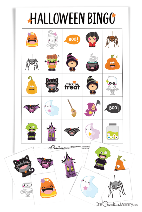 Adorable New Halloween Bingo Game