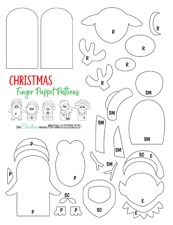 Must Make Christmas Finger Puppets and a Giveaway