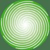 Single green spiral