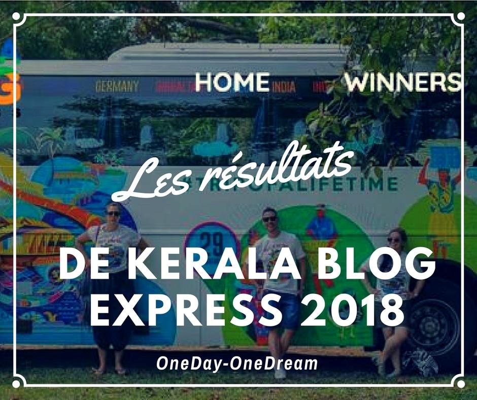 Les résultats du concours Kerala Blog Express 2018