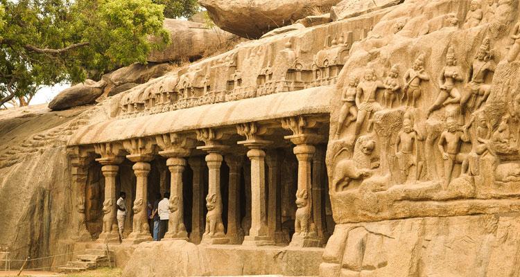 One Day Chennai to Mahabalipuram Trip by Car Arjunar Penance
