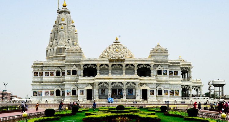 One Day Delhi to Mathura and Vrindavan Trip by Car Prem Mandir