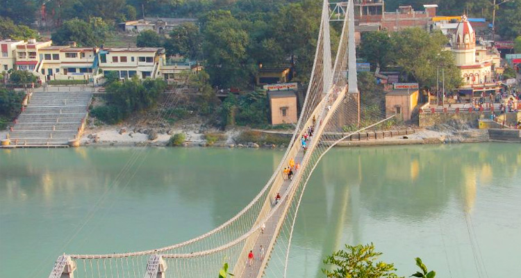 Visit Ram Jhula with One Day Haridwar and Rishikesh Local Sightseeing Trip by Taxi