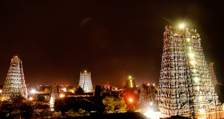 1 Day Coimbatore to Madurai and Palani Tour by Cab Meenakshi Amman Temple