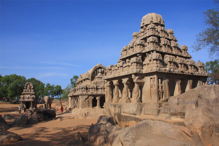 Pancha Rathas - Five Chariots with 1 Day Chennai to Mahabalipuram & Pondicherry Trip by Cab