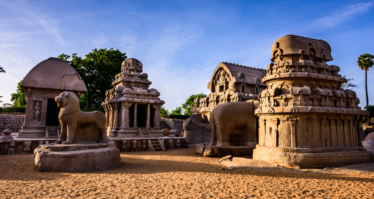 1 Day Chennai to Mahabalipuram Tour by Cab Pancha Rathas