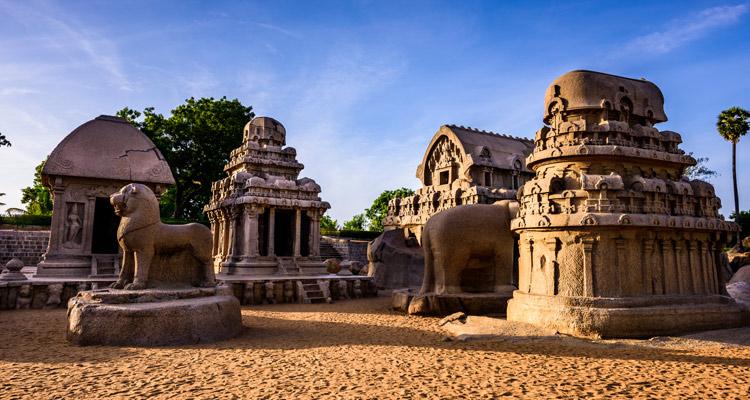 1 Day Chennai to Mahabalipuram Tour by Cab Pancha Rathas