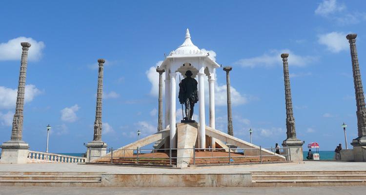 1 Day Chennai to Pondicherry Tour by Cab Gandhi Statue