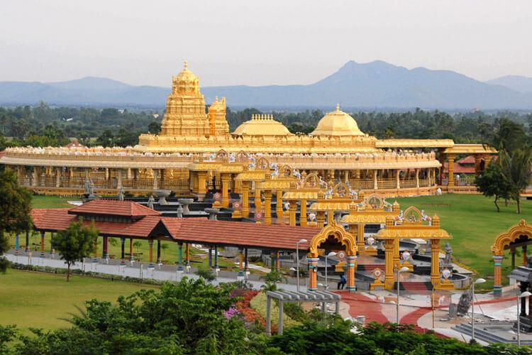 Vellore Sripuram Golden Temple with 1 Day Chennai to Vellore & Tiruvannamalai Trip by Car