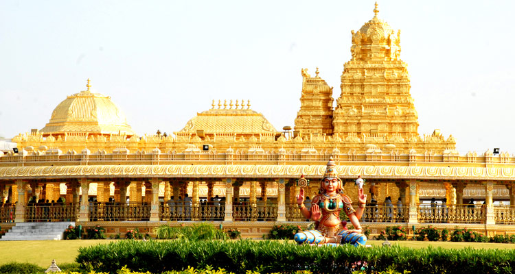 1 Day Chennai to Vellore Golden Temple Tour by Cab Sripuram Golden Temple