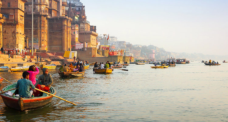 A visit to the Ganges 1 Day Varanasi Local Sightseeing Tour by Cab