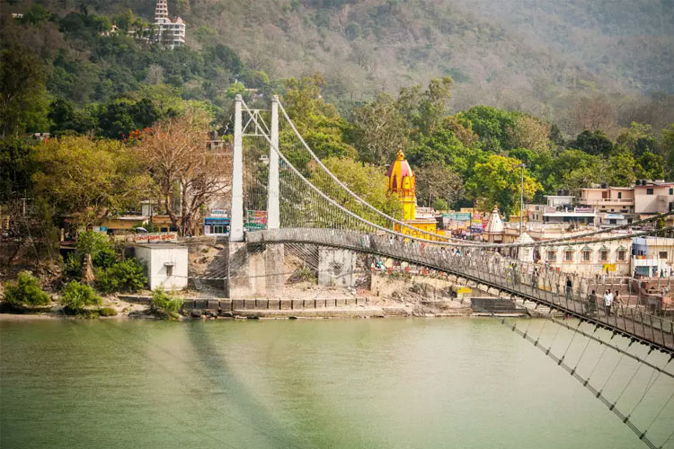Visit Ram Jhula with One Day Delhi to Haridwar and Rishikesh Car Rental Package