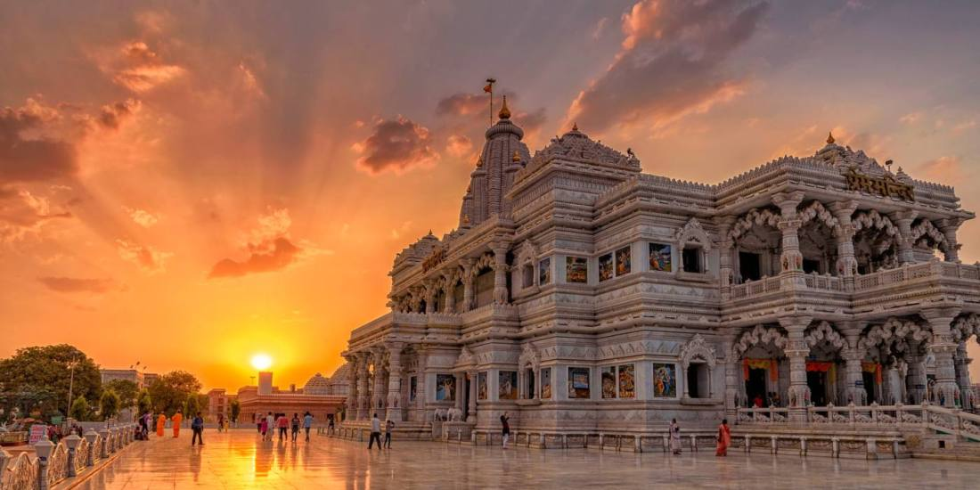 1 Day Delhi to Mathura & Vrindavan Tour by Cab