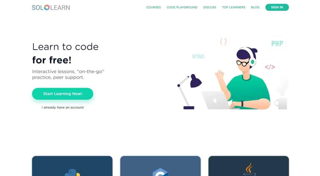 sololearn free website to learn coding 2021