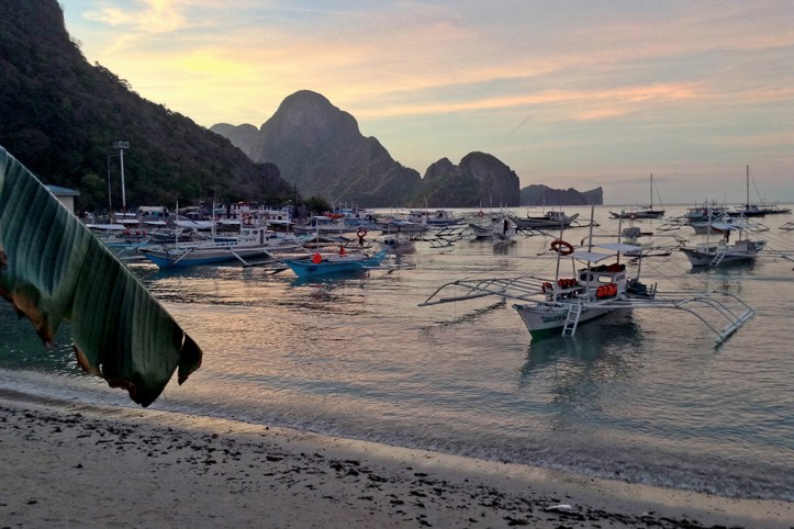 El Nido Beach at Dusk