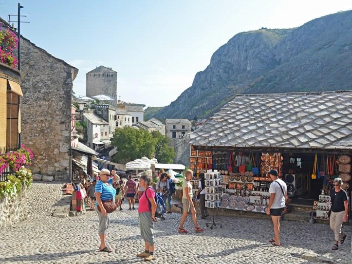 Bazaar street shops in Mostar