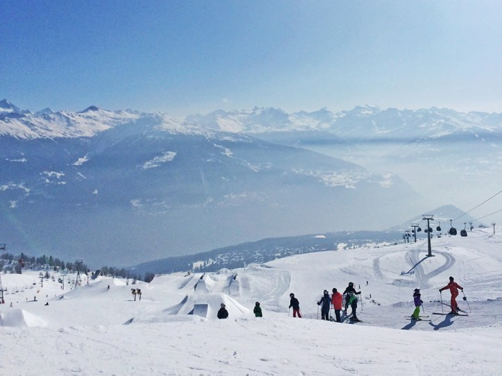 Skiing in Crans Montana