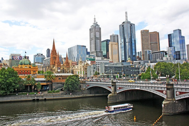 Yarra River And The City View