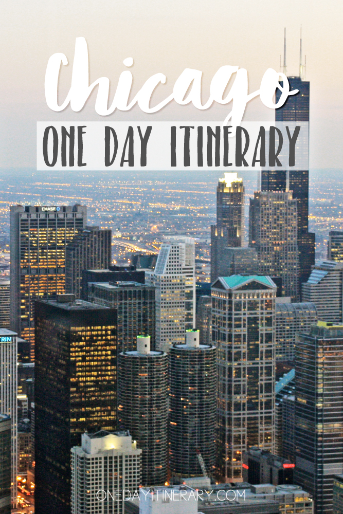Chicago Illinois One day itinerary