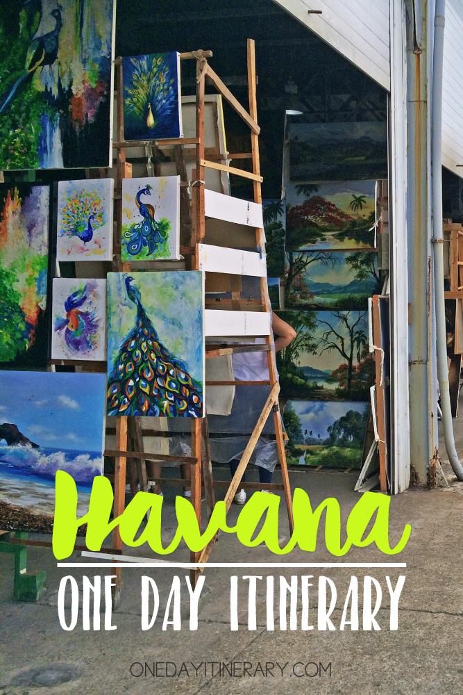 Havana Cuba One day itinerary