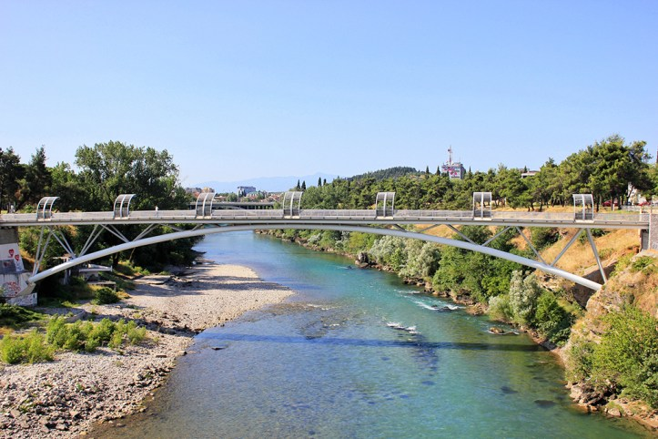The new footbridge, Podgorica