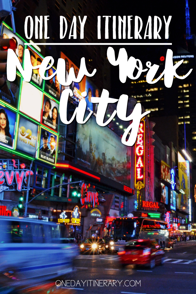 New York City One day itinerary