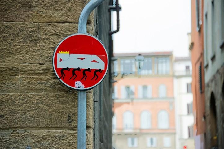 Clet Street Art, Florence