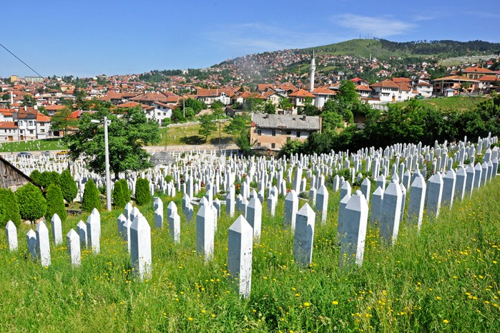 The cemetery of young victims of the war, Sarajevo