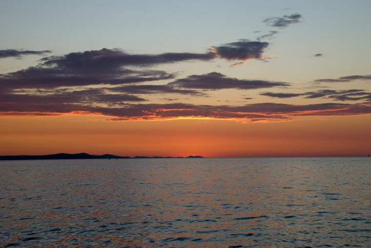 Sunset in Zadar