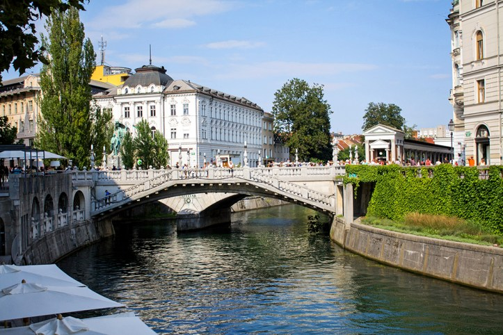 Triple Bridge and River Ljubljanica Ljubljana