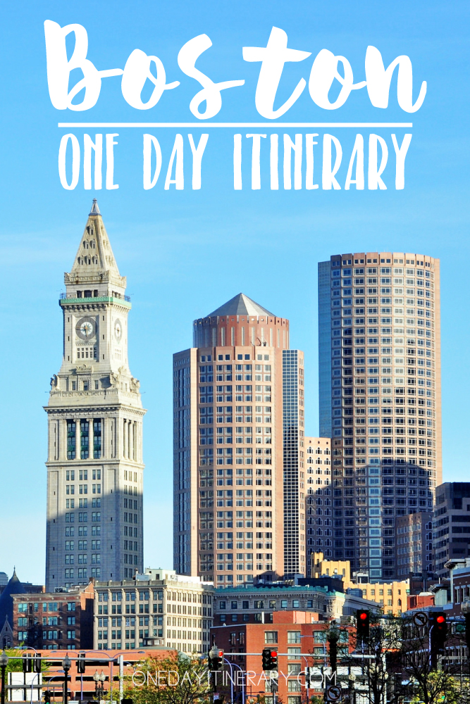 Boston USA One day itinerary