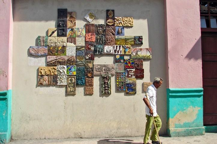 Colorful streets of Santiago de Cuba